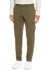 Men's 1901 'Thurston' Cargo Stretch Chinos Olive Night