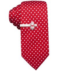 John Ashford Dot Tie And Santa Tie Bar Only At Macy's Red