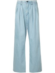 Strateas Carlucci Tunnel Pleat Trousers Blue