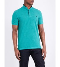 The Kooples Classic Fit Cotton Polo Shirt Grn45