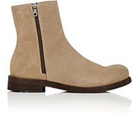 Barneys New York Men's Suede Ankle Boots Brown