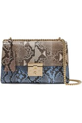 Gucci Padlock Medium Python Shoulder Bag Snake Print