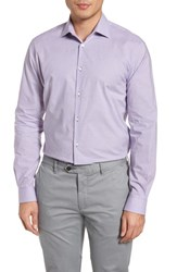 John Varvatos Star Usa Regular Fit Stretch Check Dress Shirt Purple