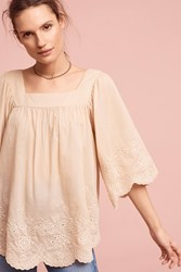 Anthropologie Melody Eyelet Blouse Sand
