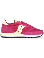 Saucony Lace Up Sneakers Pink Purple