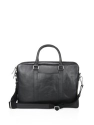 Shinola Textured Leather Computer Briefcase Black