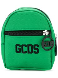 Gcds Logo Embroidered Mini Backpack Wallet Green