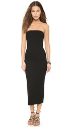 Enza Costa Strapless Rib Dress Black