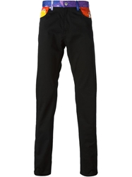 Moschino Panelled Straight Leg Jeans Black
