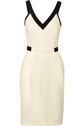 Band Of Outsiders Grosgrain Trimmed Stretch Cotton Blend Dress