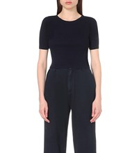 Ag Jeans Acute Cotton Jersey Cropped Top Ikdone