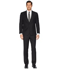 Kenneth Cole Reaction Slim Fit Performance Suit W Stretch Black Pin Dot Dress Pants