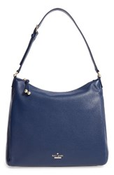 Kate Spade New York Lombard Street Pauley Leather Hobo Blue French Navy