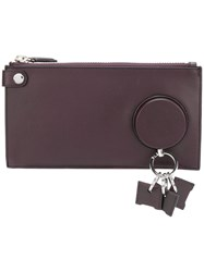 Alexander Wang Flat Pouch Clutch Bag Women Leather One Size Red