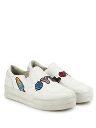 Ash Jess Yes Love Embroidered Leather Platform Skate Sneakers White