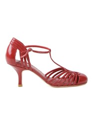 Sarah Chofakian Strappy Pumps Red