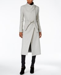 Kenneth Cole Wool Blend Maxi Wrap Coat Glacier