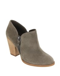 Mia Frisco Suede Booties Taupe