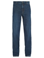 Lanvin Washed Straight Leg Jeans Navy