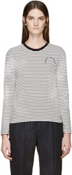 Marc Jacobs Black And White Long Sleeve Striped T Shirt