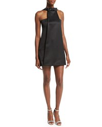Alexis Annely Satin Mini Dress Black Women's