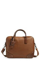 Men's Ted Baker London 'Picton' Leather Satchel Brown Tan