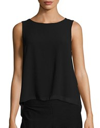 Vero Moda Pleated Sleeveless Chiffon Top Black
