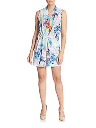 Amanda Uprichard Watercolor Print Short Jumpsuit Watercolor Flower