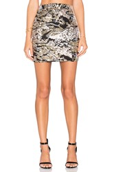 Wyldr Made To Party Mini Skirt Metallic Gold