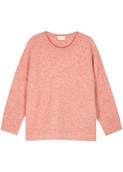 American Vintage Wixtonchurch Pink Stretch Knit Jumper Light Pink