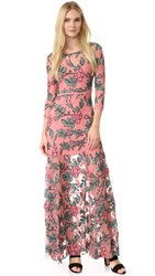 For Love And Lemons Rosali Maxi Dress Mauve Floral