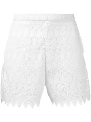Perseverance London Lace Detail Shorts White