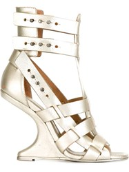 Rick Owens 'Cyclops Cantilevered' Sandals Metallic