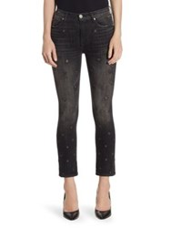 Hudson Harper High Rise Baby Cropped Kick Flare Pants Night Star
