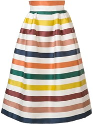 Carolina Herrera Striped Full Skirt