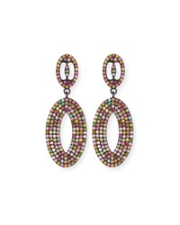 Margo Morrison Multicolor Tourmaline Loop Earrings Multi Pattern