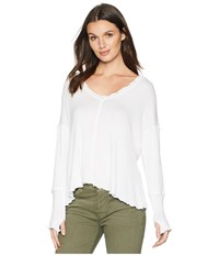 Lucy Love Comfort Zone Top White Clothing