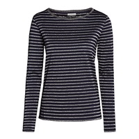 Marella Cosa Metallic Stripe Top Navy