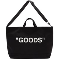 Off White Black Quote Tote