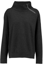 Brunello Cucinelli Embellished Cashmere Sweatshirt Dark Gray
