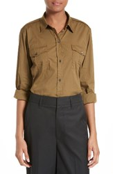 Vince Women's Military Shirt Olive