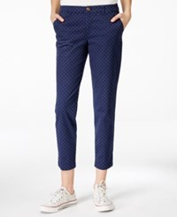Bar Iii Maison Jules Polka Dot Lou Lou Pants Only At Macy's Blue Notte Combo