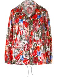 Marni Floral Zipped Jacket Red
