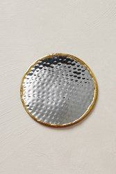 Anthropologie Glimmer Ring Coaster Silver