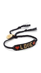 Venessa Arizaga Love Bracelet Black Red