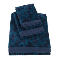 Hugo Boss Stencil Indigo Towel Bath Sheet