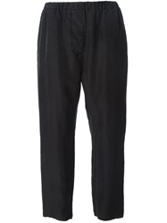 Hache Washed Casual Trousers Black