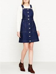 Whistles Gracie Dungaree Dress Blue