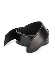 Corthay Patent Crocodile Python Leather And Suede Buckle Belt Black Brown