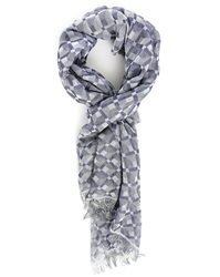 Billtornade Grey Diamonds Cotton Scarf